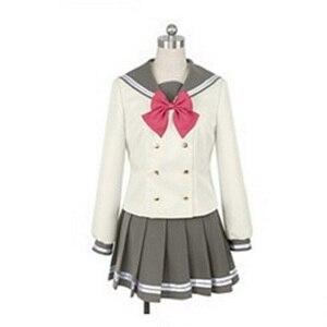 Image 1 - Lovelive Sunshine Aqours Tsushima Yoshiko Cosplay Kostuum Japanse Anime Liefde Live Meisje Sailor School Uniform Pak Kleren