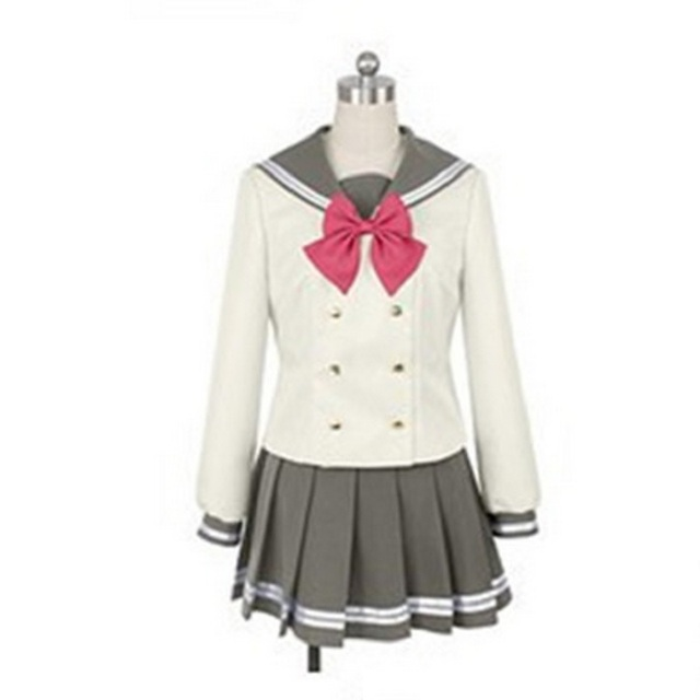 Lovelive Sunshine Aqours Tsushima Yoshiko Cosplay Kostuum Japanse Anime Liefde Live Meisje Sailor School Uniform Pak Kleren