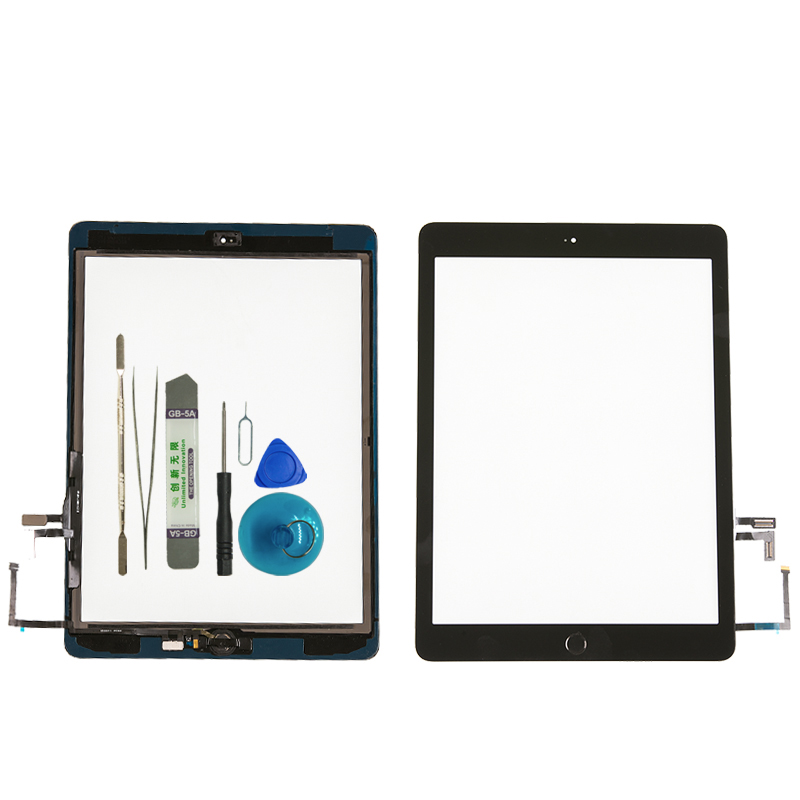 Touch-Screen Digitizer Cable Generation Outer-Panel iPad Home-Button A1822 Brand-New