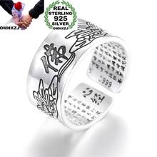 OMHXZJ Wholesale European Fashion Woman Man Party Wedding Gift Chinese Famous Words Engraved Open Taiyin Ring RR254(China)