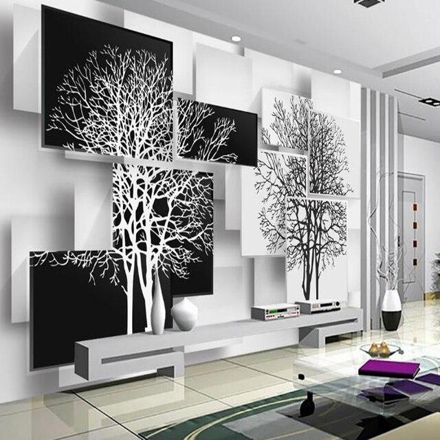 Moderne mode foto malerei tapete schwarz weiß einfache hintergrund ...
