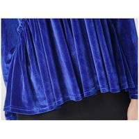 BFYL Fashion Women Casual Spring Autumn V Neck T Shirt Long Sleeve T Shirt Sequin Velvet