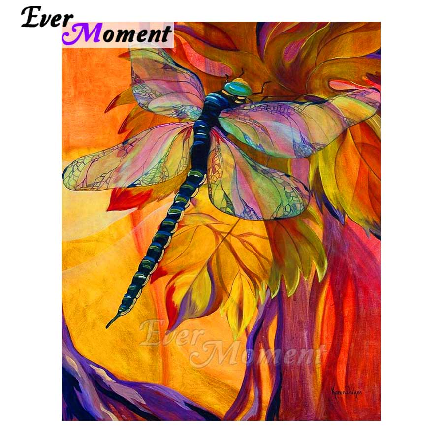 Ever Moment Diamond Painting Full Square Color Dragonfly Pattern DIY Diamond Mosaic Resin Drill Home Handmade Craft ASF1050Ever Moment Diamond Painting Full Square Color Dragonfly Pattern DIY Diamond Mosaic Resin Drill Home Handmade Craft ASF1050