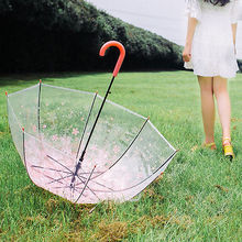 Mode Schöne Romantische Kirschblüte Transparent Regenschirme Elegante Sakura Princes Regenschirm