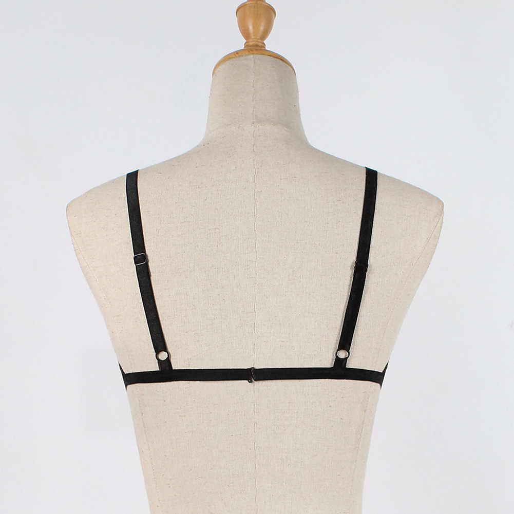 16e7b3b7b8555 ... Anself Women Lingerie Bra Bandage Bra Sheer Lace Bustier Bralette  Brassiere Elastic Cage Erotic Strappy Crop ...