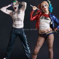 Crazy Toys Movie Suicide Squad Harley Quinn Joker Green Hair PVC Action Figures Baseball Bat Sexy