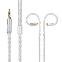 Yinyoo H3 H5 8 Core Upgraded Silver Plated Cable 3 5 2 5 4 4mm Earphone