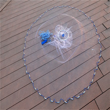 Lawaia Fly Fishing Weight 2.4-7.2m Crab Fishing of Fish Net Stockings White Cast Nets for How To Throw Fishing Cast Net