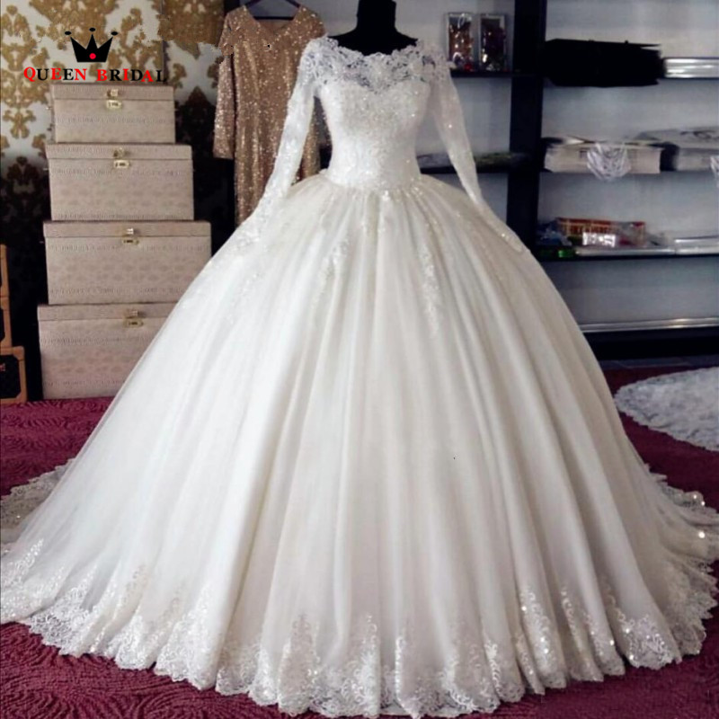 Custom Made Ball Gown Fluffy Tulle Lace Beading Luxury Elegant Bride - Pakaian perkahwinan