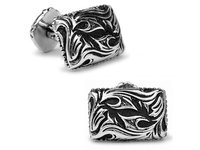 SPARTA White Gold Electroplated Sparta Gladiator Cufflinks men's Cuff Links + Free Shipping !!! metal buttons