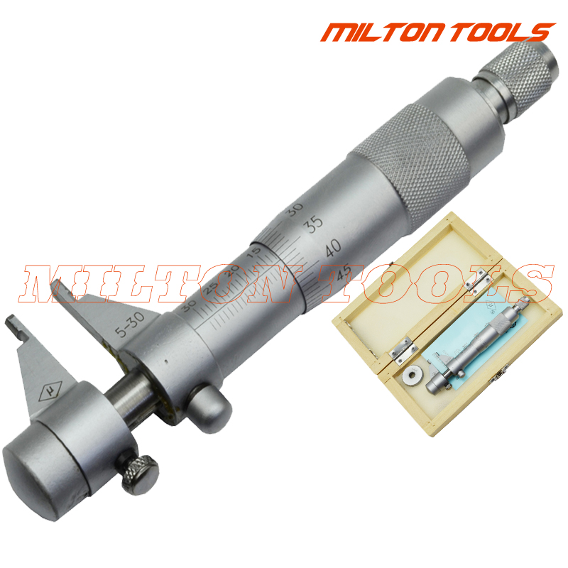 5-30mm Inside Micrometer Screw Gauge Metric Internal Micrometers Carbide Measuring Tools