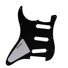 Black Pickguard 3 Ply 11 Hole For Most Stratocaster Strat Guitar SSS Accessories