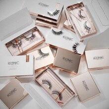 100 шт Высококачественная коробка для накладных ресниц, Подарочная коробка на заказ, индивидуальная Магнитная коробка для ресниц