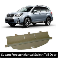 Car Rear Trunk Security Shield Cargo Cover For Subaru Forester 2013 2017 Manual Switch Tail Door PARCEL SHELF SHADE RETRACTABLE