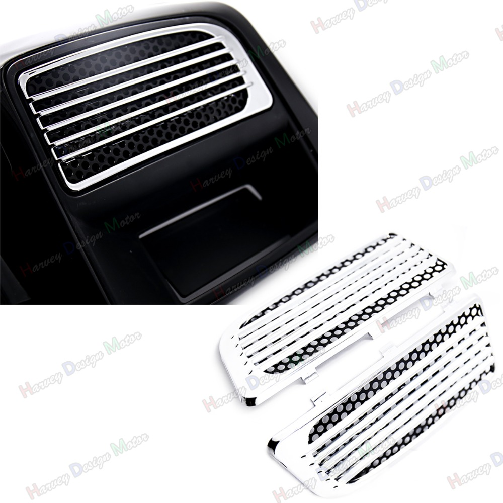 Chrome Radiator Grills&Screens For Harley 2014-2017 Touring Twin Cooled Models