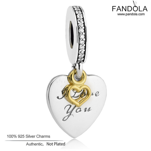 Love You Forever Charms Fits Pandora Bracelets Original 925 Sterling Silver Dangle Beads DIY Fine 2017 Valentines Day Jewelry