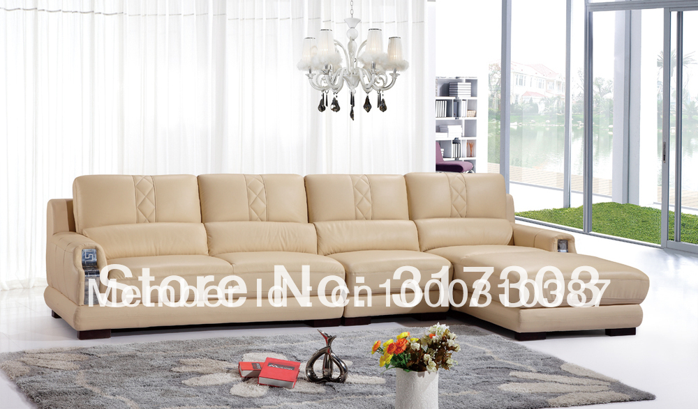Morden Sofa Leather Sofa Corner Sofa Livingroom Furniture Corner Sofa Fac