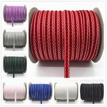 """5 ярдов 3/""""(10 мм) бархатная лента для украшения свадебной вечеринки лента ручной работы подарочная упаковка бантик для волос DIY Рождественская лента# RD10"""