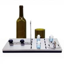 Резак для стеклянных бутылок из нержавеющей стали резка «сделай сам» машина для резки вина пива, ликера бутылки виски для 6-15 мм толщины бутылки