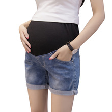 Summer Denim Shorts Pants For Maternity Ultra Thin Hot Pants For Pregnant Women Chic Short Trousers