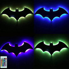 ZINUO LED Night Light USB Power Supply 3D Batman Remote Control 7Color Home Decoration Lamp Children Gifts