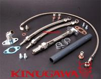 Kinugawa Turbo масляно водяной комплект шлангов для TOYOTA 1JZ GTE 2JZ GTE w/для Garrett T04Z шарикоподшипник для турбины