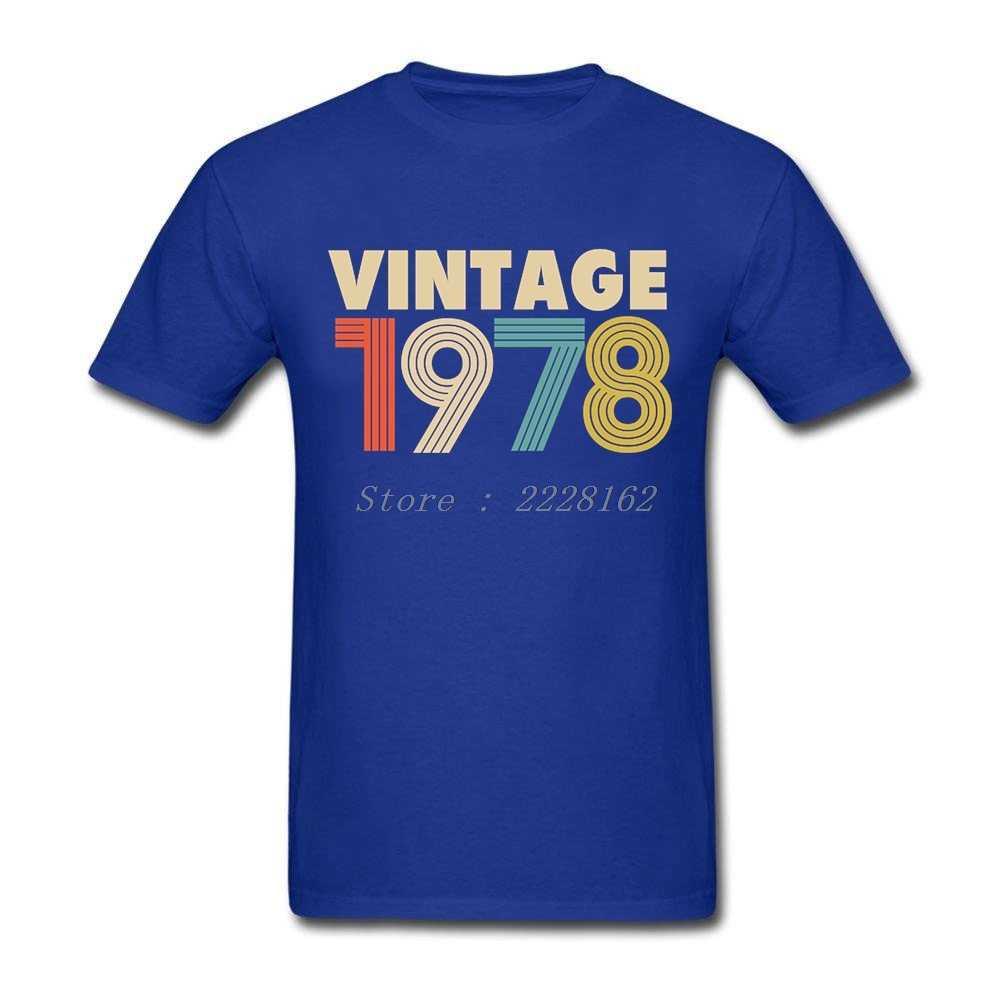 Men T Shirts Vintage 1978 Fashion 40th Birthday Gift 80s Custom Printed Shirt