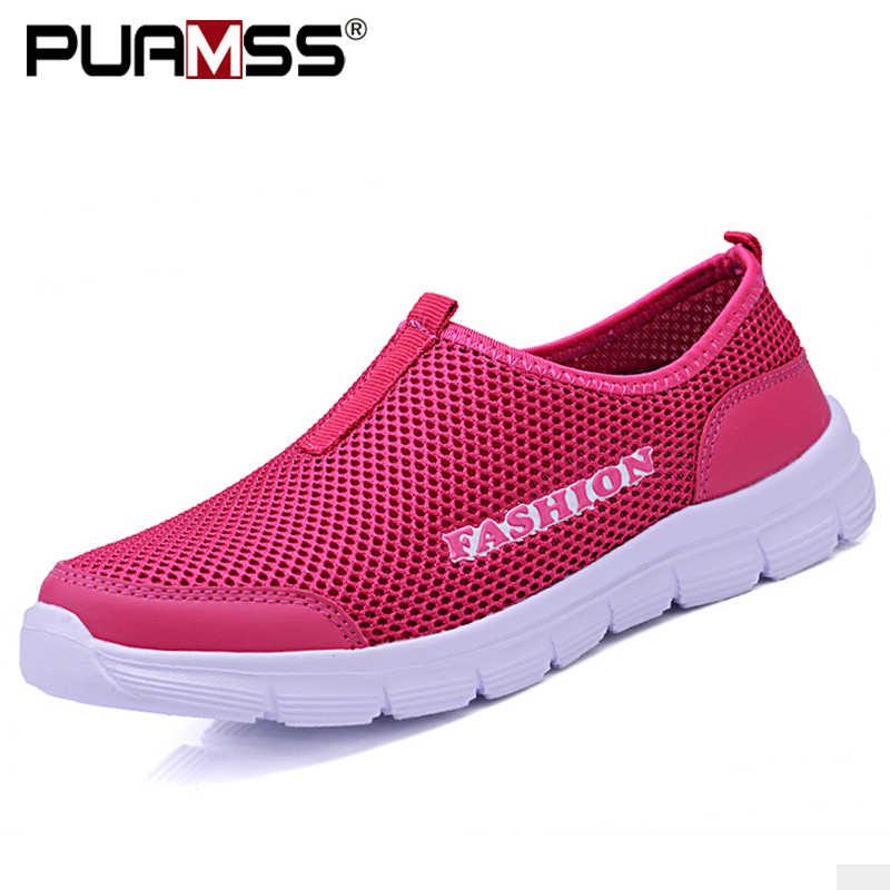 קיץ חדש נשים סנדלי נשים נעליים יומיומיות קל משקל לנשימה מים להחליק על נעלי נשים סניקרס Sandalias Mujer