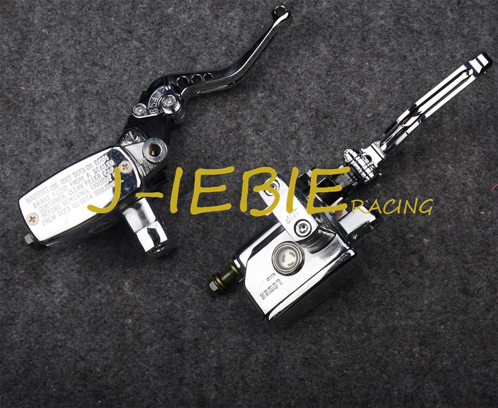 Chrome Brake Master Cylinder Clutch Levers for Suzuki Intruder 800 1400 1500 Boulevard C90 S50 S83 for suzuki intruder 1400 1500 lc boulevard s83 c90 marauder 800 wing motorcycle foot pegs motorcycle part