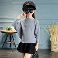 Girls Batwing Sleeve Underwear 2017 New Spring Children Sweet Cute Sweater Suit Girls Short Skirt For Two Sets Girl Shirt