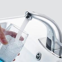 Бесплатная Бесконтактный автоматический inflared Сенсор кран для Ванная комната раковина экономии воды Индуктивный Электрический воды Смеситель Бесплатная доставка