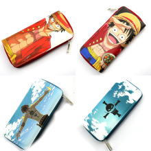 Portgas D Ace Monky D Luffy with zipper PU Leather Wallet