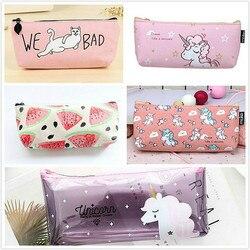 Lolede store s store 1 pçs/vender rosa animal simples pentilsbag kawaii menina lápis caso durável grande capacidade material escolar papelaria