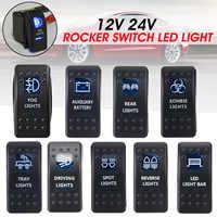 1PC 12/24V Waterproof Led Car Switch Boat Truck Light Toggle Switch Bar Style Blue Toggle Rocker Reverse Rear Light Switch