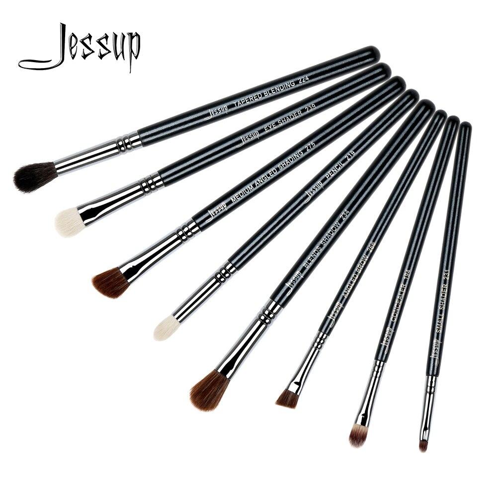 Jessup brushes 8pcs Makeup Brushes Tools Makeup Cosmetics Brush kit Blending Eyeshadow Eyeliner Brow Concealer T091 блузка женская zarina цвет белый 8122093324004 размер 46