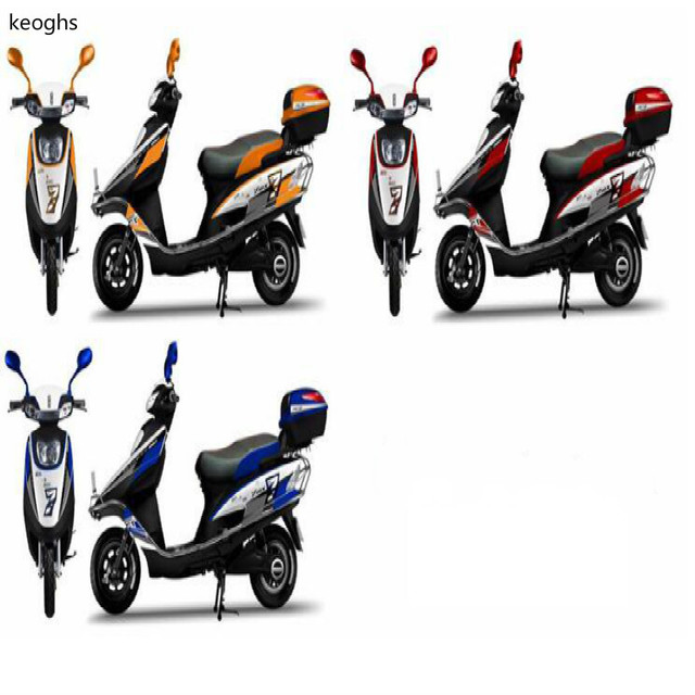 7 number pattern pvc waterproof stickers moto motorcycle sticker scooter sticker whole body cool decoration with