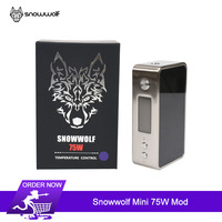 Original Snowwolf Mini 75W Tc Box Mod e cigarette 75W 18650 mod Vape with GX75 chip Temperature Control Electronic cigarettes