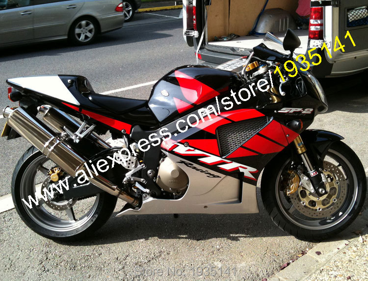 Hot Sales,For Honda VTR 1000 SP1 SP2 RC51 2000-2007 RVT 1000R 00 01 02 03 04 05 06 07 Red Black Silver ABS Motorcycle Fairing hot sales black frosted style motorcycle
