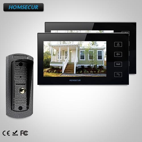 HOMSECUR 7 Video Door Entry Security Intercom+Dual-way Intercom for Apartment : TC041 Camera + TM704-B Monitor