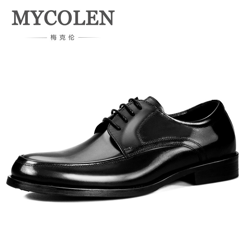 MYCOLEN 2018 Men's Formal Casual Shoes For Classic Men Dress Top Quality Brand Derby Man Shoes Sapato Social Masculino Couro mycolen fashion brand men shoes winter handsome business casual shoes breathable men s leather shoes man derby sapato social
