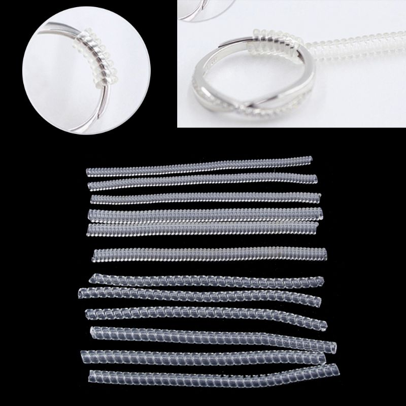 12 Pack 4 Sizes Spiral Tightener Ring Size Adjuster For Loose Ring Jewelry GuardInc