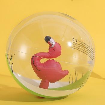 Rooxin basen zabawki jednorożec Flamingo nadmuchiwane zabawki piłka plażowa nadmuchiwane koło do pływania lato woda basen Party akcesoria tanie i dobre opinie WOMEN 16 24