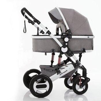 Коляска 2 в 1, колыбель трансформируется в прогулочный блок, коляска подходит для холодного времени года детская коляска