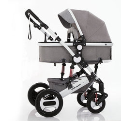Kinderwagen 2 in 1, de wieg is omgezet in een walking unit, de wandelwagen is geschikt voor het koude seizoen kinderwagen