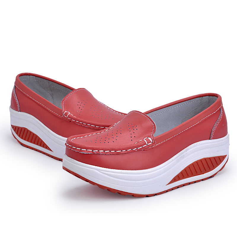 New Womens Shake Shoes Lady Genuine Leather shoes (40)