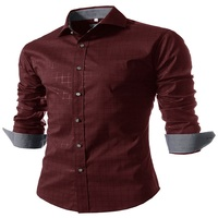 WSGYJ Plaid Shirt Men S Long Sleeves New Brand Clothing Top Quality Slim Fit Designer Business