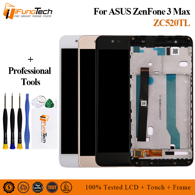 Free Shipping 5.2'' New LCD For <font><b>Asus</b></font> <font><b>Zenfone</b></font> <font><b>3</b></font> <font><b>Max</b></font> <font><b>ZC520TL</b></font> <font><b>Display</b></font> LCD Touch Screen Digitizer Assembly X008D <font><b>ZC520TL</b></font> LCD <font><b>Display</b></font> image