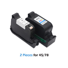 2pcs For HP 45 78 ink cartridge For HP deskjet 1220c 3820 3822 6122 6127 920c 930c 932c 940c 950c printer ink cartridge For HP45 high quality black white frsky accst taranis q x7 transmitter spare part protective remote control cover shell for rc models