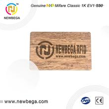 5PCS NFC wood card Genuine MF1ICS50 EV1 1K--4byte UID  S50 RFID 13.56MHz IC  Key free shipping Fast delivery 13 56mhz mf 1k s50 fm11rf08 f08 nfc transparent trops of glue card rfid key tag key ring