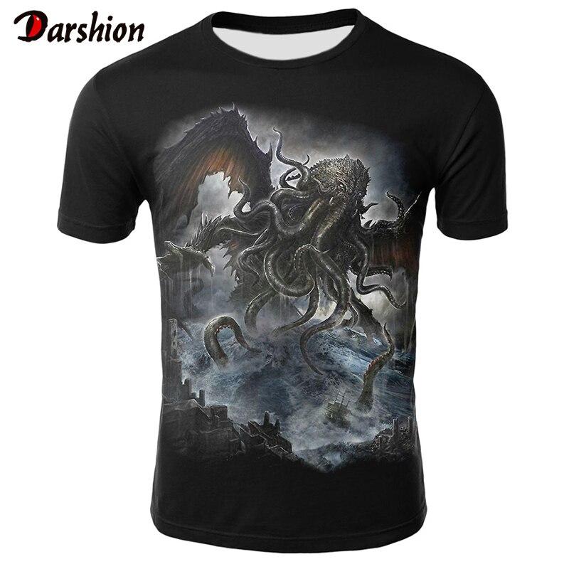 Casual Short Sleeve 3D T Shirt Men T-Shirt Male Streetwear Neptune Pet Tshirt Men Fitness O-Neck Tee Shirt Oversized T Shirt